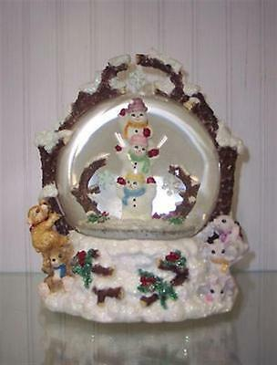 New Limited Edition Christopher Radko Sneak-A-Peak Musical Snow Globe