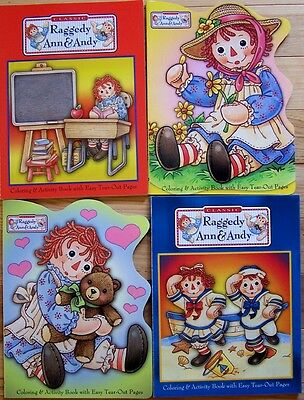 LOT of 5 RAGGEDY ANN & ANDY 2003 Coloring Activity Paint Books Simon & Schuster