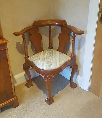 Antique style carved chair - stunning and unusual.