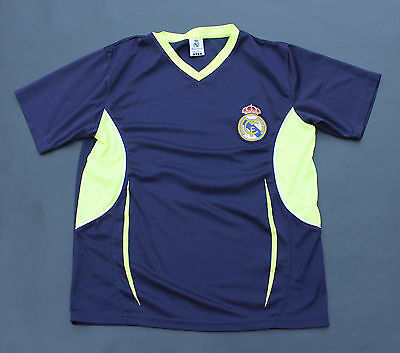 low priced e8210 e1073 REAL MADRID SOCCER Jersey Dark Blue with Neon Green Accents Size S