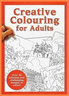 Creative Therapy Colouring Book for Adults Book The Cheap Fast Free Post