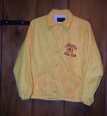 vintage lancaster polo club jacket small