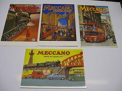 Meccano Postcards Covers Of Magazine And Catalogue 4 Cards From Mayfair Uk