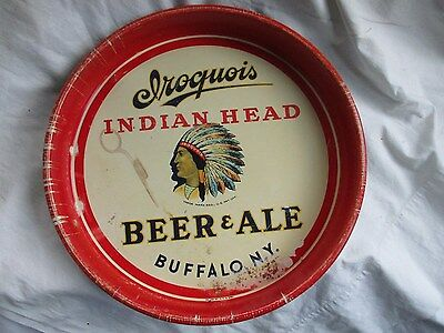 """Iroquois Beer & Ale Beer Tray,13 1/4"""", c.40s, GC-"""