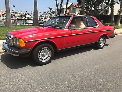 1984 Mercedes-Benz 300-Series 300CD 1984 Red Mercedes Benz 300 Coupe Diesel