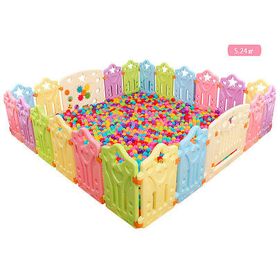 Baby Play Pen Children Kids Entertainment Activity Barrier Gear Game House Yard