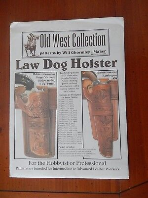 Law Dog Holster Patters. Leathercraft / Leather Work