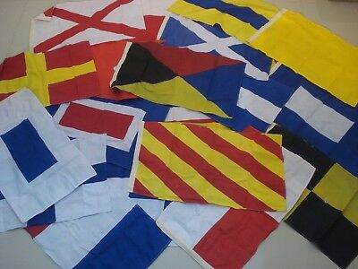 LARGE - Naval Signal Flags / Flag SET- Set of Total 26 flag - 16 X 28 Inches