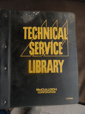 McCULLOCH TECHNICAL SERVICE LIBRARY--BIG MANUAL!!1967-70-PLUS SAWS-PARTS LISTS.