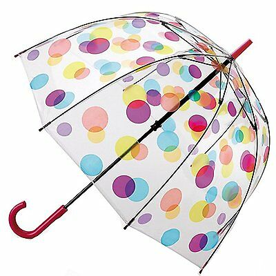 Kung Fu Smith Transparent Flag Clear Bubble Polka Dot Flower Dome Umbrella, Dots