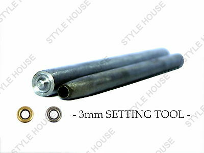 3mm EYELET SETTING TOOL WITH PUNCH LEATHER CRAFT SCRAPBOOKING REPAIR DIY