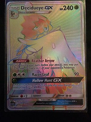 Pokémon Decidueye GX - 146/145 - Secret Hyper Rare NM SM 2 Guardians Rising