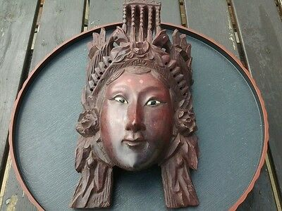 Vintage carved Chinese face mask