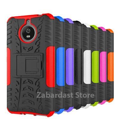 Heavy Duty Gorilla Shock Proof Stand Case Cover Military Builder for Moto G5