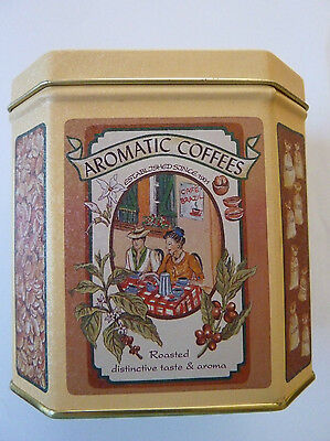 Vintage Coffee Tea Tin Box Collectible biscuit tin