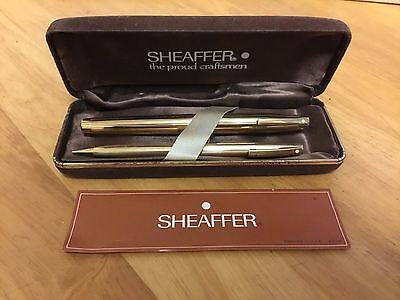 Vintage Sheaffer Fountain Pencil And Pencil Collector Set 12k And 14k Gold