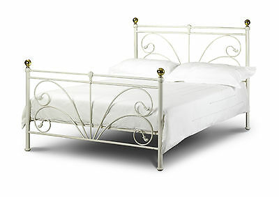 Cadiz Styled Ivory Bed Frame  king Size  150CM 5ft  With a sprung base