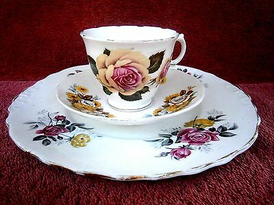 Royal  Vale  Bone  China  Trio  Made  In  England