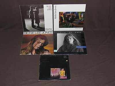 "RICKIE LEE JONES 4 LP & 1x10"" RECORD ALBUMS LOT COLLECTION Pirates/Cowboys/Girl"