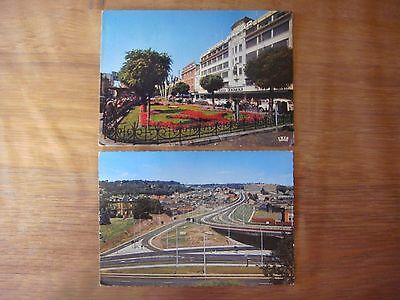 Lot de 2 cartes de VERVIERS ( Autoroute / Home Center )