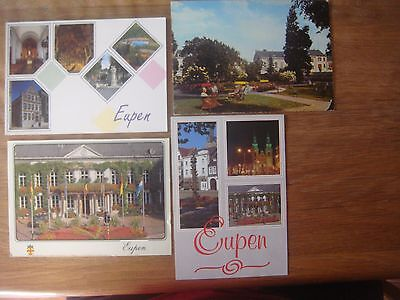 Lot de 4 cartes de EUPEN