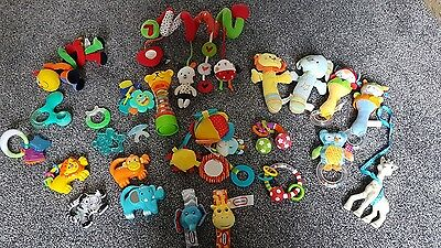 baby rattles and teethers including Sophie giraffe