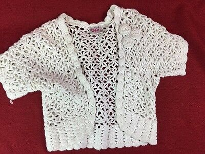Justice Sweater Size 8/10 White Crochet