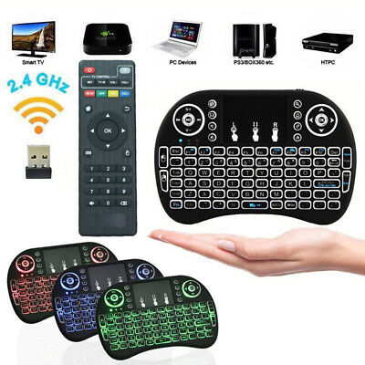 New Backlit Mini i8 Keyboard Backlight Touch Pad Android TV Box Remote for MXQ