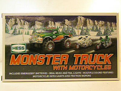 Hess 2007 Monster Truck With Motorcycles In Original Box Untested