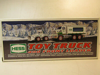 Hess 2008 Toy Truck And Front Loader In Original Box Untested