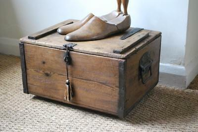 cute little antique vintage toolbox collectors shoe storage pine box