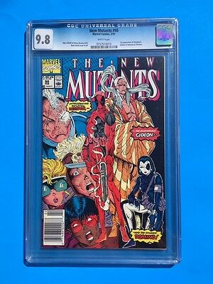 New Mutants #98 (1991), CGC 9.8 (NM/MT), 1st Appearance of Deadpool,Cable movie