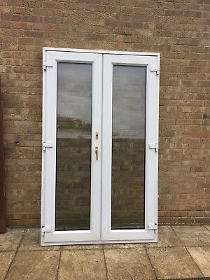 Upvc wood grain external double french patio doors and for Used patio doors