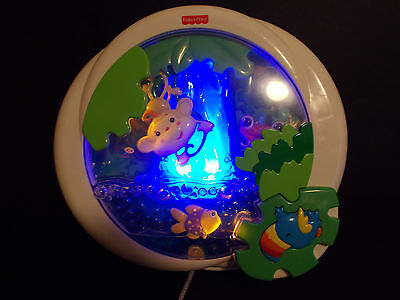 Fisher Price Rainforest Peek-A-Boo Waterfall Crib Soother Musical Sounds #1331