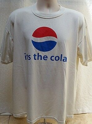 "Vintage PEPSI T SHIRT - ""it's the cola"" - Jerzees - Size L - RARE!"