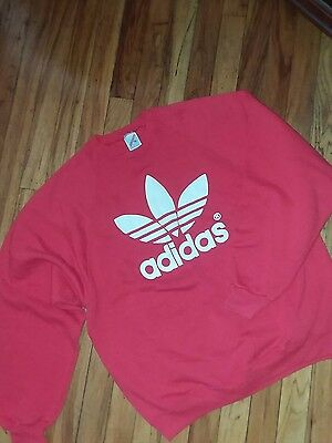 adidas vintage red with white logo sz.XL made in USA super swag