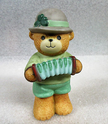 Lucy and Me ~ Irish Play Accordian St. Patrick's Day March ~ Porcelain Figurine