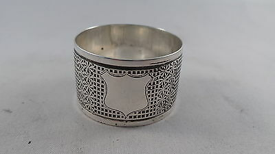 Nice Thimble Design  Quality Antique Sterling Silver Napkin Ring Birmingham 1905