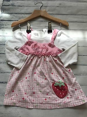 Baby Girls Clothes Dresses 6-9  Months - Cute Blue  Dress -
