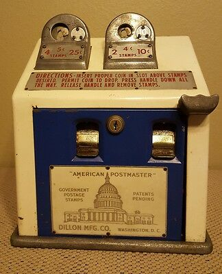 Vintage Dual Coin Op Stamp Vending Machine US Post Office