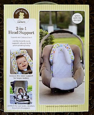 CARTER'S CHILD OF MINE 2-IN-1 HEAD SUPPORT NEW NIB Infant Cute White Multi Color