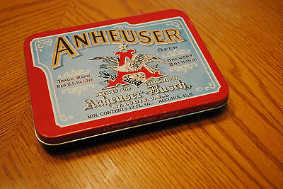 ANHEUSER-BUSH Brewing Company Classic Playing Cards (2 Decks) & Tin Case NEW!!