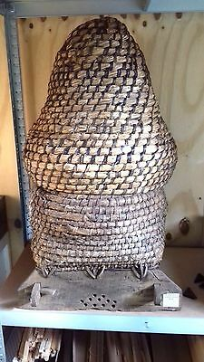 Honey antique Bee Hive probably the only one left with show frame in glass