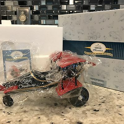 "Don Palmiter 1930 Biplane ""spirit Of Christmas"", Hallmark Kiddie Car-Custom-Nib"