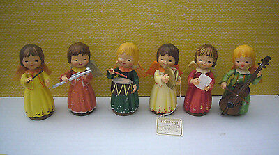 Lot of 6 Anri Italty Handcrafted Toriart Girl Angel Musical Band Figurines