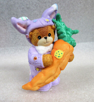 Lucy and Me ~ Purple Rabbit Bunny Suit with Carrot ~ Porcelain Figurine