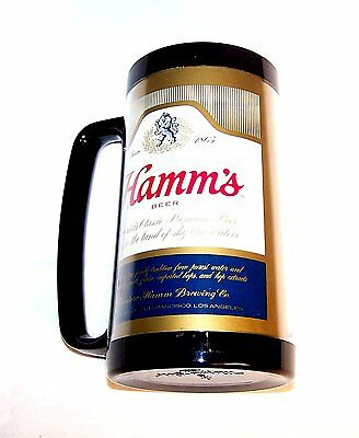 Vintage 60's Plastic Hamms Hamm's Beer Mug Glass Cup Can Top Flat Sign Clock Ofr