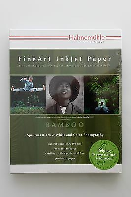 """Hahnemühle Photo Rag BAMBOO (8.5 x 11"""", 20 Sheets) 290 gsm"""
