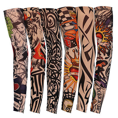 6PCs Tattoos Arm Sleeves Cooling Cover UV Sun Protection Basketball Outdoor