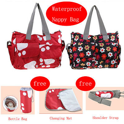Maternity Tote Waterproof Diaper Nappy Changing Liners Bag Mummy Baby Travel Bag